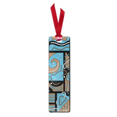 Blue and brown abstraction Small Book Marks