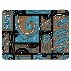 Blue and brown abstraction Samsung Galaxy Tab 7  P1000 Flip Case