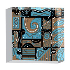 Blue and brown abstraction 5  x 5  Acrylic Photo Blocks
