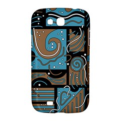 Blue and brown abstraction Samsung Galaxy Grand GT-I9128 Hardshell Case