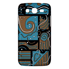Blue and brown abstraction Samsung Galaxy Mega 5.8 I9152 Hardshell Case