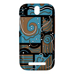 Blue and brown abstraction HTC One SV Hardshell Case