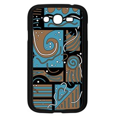 Blue and brown abstraction Samsung Galaxy Grand DUOS I9082 Case (Black)