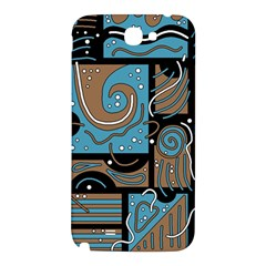 Blue and brown abstraction Samsung Note 2 N7100 Hardshell Back Case