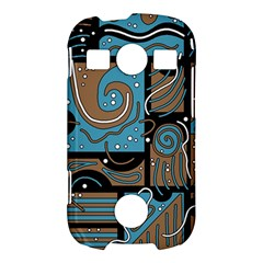 Blue and brown abstraction Samsung Galaxy S7710 Xcover 2 Hardshell Case