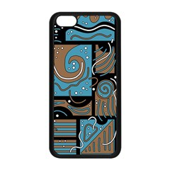 Blue and brown abstraction Apple iPhone 5C Seamless Case (Black)