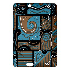 Blue and brown abstraction Amazon Kindle Fire HD (2013) Hardshell Case