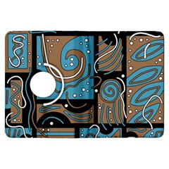 Blue and brown abstraction Kindle Fire HDX Flip 360 Case