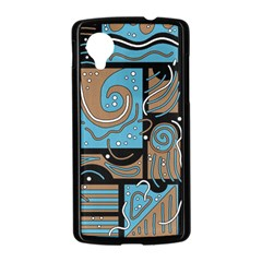 Blue and brown abstraction Nexus 5 Case (Black)