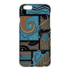 Blue and brown abstraction Apple iPhone 6 Plus/6S Plus Hardshell Case