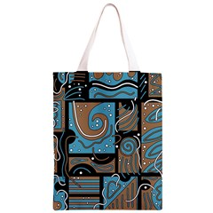 Blue and brown abstraction Classic Light Tote Bag