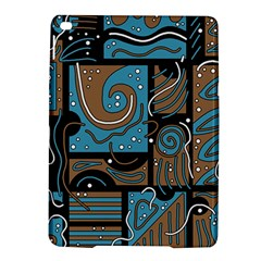 Blue and brown abstraction iPad Air 2 Hardshell Cases