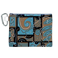 Blue and brown abstraction Canvas Cosmetic Bag (XL)