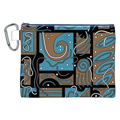 Blue and brown abstraction Canvas Cosmetic Bag (XXL)