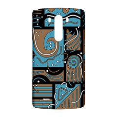 Blue and brown abstraction LG G3 Back Case