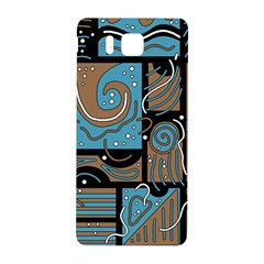 Blue and brown abstraction Samsung Galaxy Alpha Hardshell Back Case