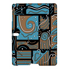Blue and brown abstraction Samsung Galaxy Tab S (10.5 ) Hardshell Case