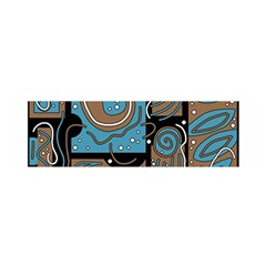 Blue and brown abstraction Satin Scarf (Oblong)