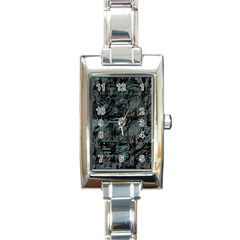 Blue town Rectangle Italian Charm Watch
