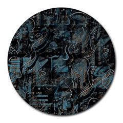 Blue town Round Mousepads