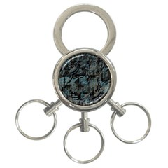 Blue town 3-Ring Key Chains