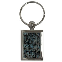 Blue town Key Chains (Rectangle)