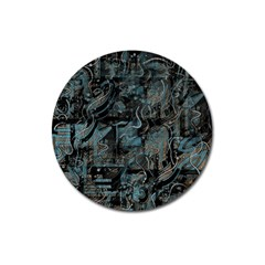 Blue town Magnet 3  (Round)