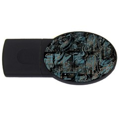 Blue town USB Flash Drive Oval (1 GB)
