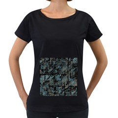 Blue town Women s Loose-Fit T-Shirt (Black)