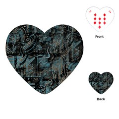 Blue town Playing Cards (Heart)