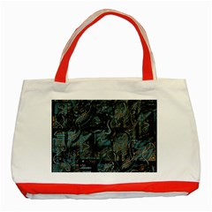 Blue town Classic Tote Bag (Red)