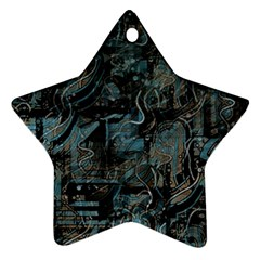 Blue town Star Ornament (Two Sides)