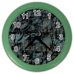 Blue town Color Wall Clocks