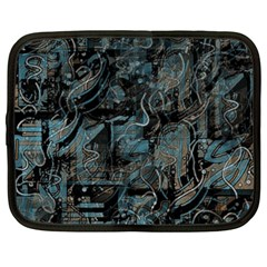 Blue town Netbook Case (Large)