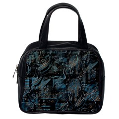 Blue town Classic Handbags (One Side)