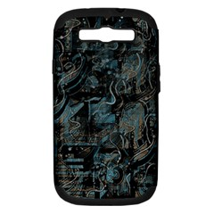 Blue town Samsung Galaxy S III Hardshell Case (PC+Silicone)