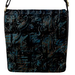 Blue town Flap Messenger Bag (S)