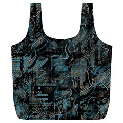Blue town Full Print Recycle Bags (L)