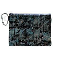 Blue town Canvas Cosmetic Bag (XL)