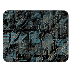 Blue town Double Sided Flano Blanket (Large)