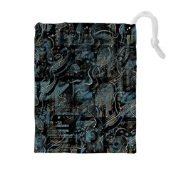 Blue town Drawstring Pouches (Extra Large)