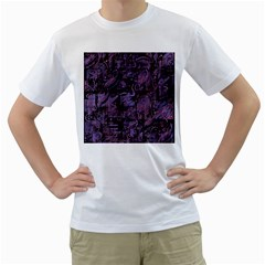 Purple town Men s T-Shirt (White) (Two Sided)