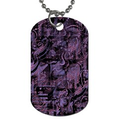 Purple town Dog Tag (One Side)