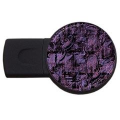 Purple town USB Flash Drive Round (1 GB)
