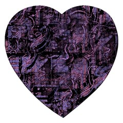 Purple town Jigsaw Puzzle (Heart)
