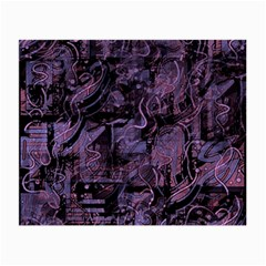 Purple town Small Glasses Cloth (2-Side)