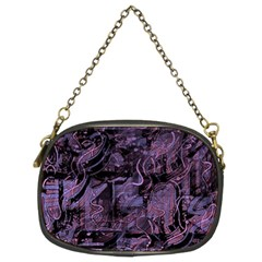 Purple town Chain Purses (Two Sides)
