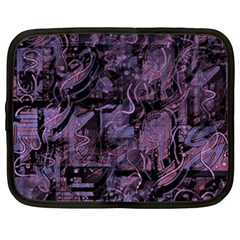 Purple town Netbook Case (XXL)