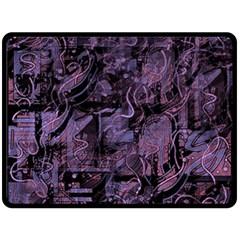 Purple town Fleece Blanket (Large)