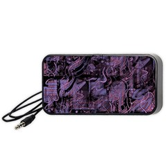 Purple town Portable Speaker (Black)